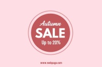 Autumn Sale Video advertising template Banner 4' × 6'