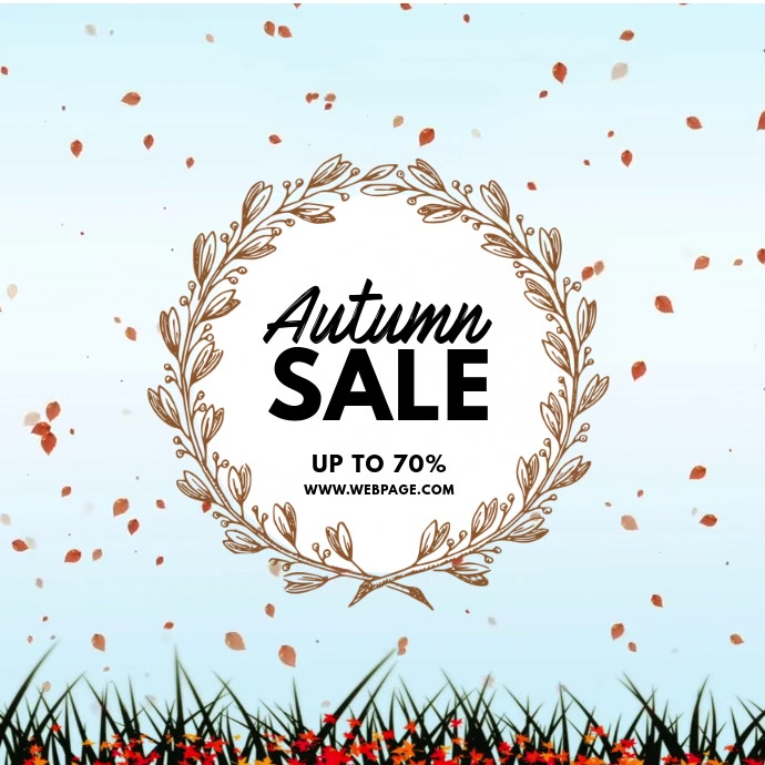 Autumn Sale Video advertising template for instagram สี่เหลี่ยมจัตุรัส (1:1)