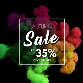 Autumn Sale video explosion advert promo store retail shop