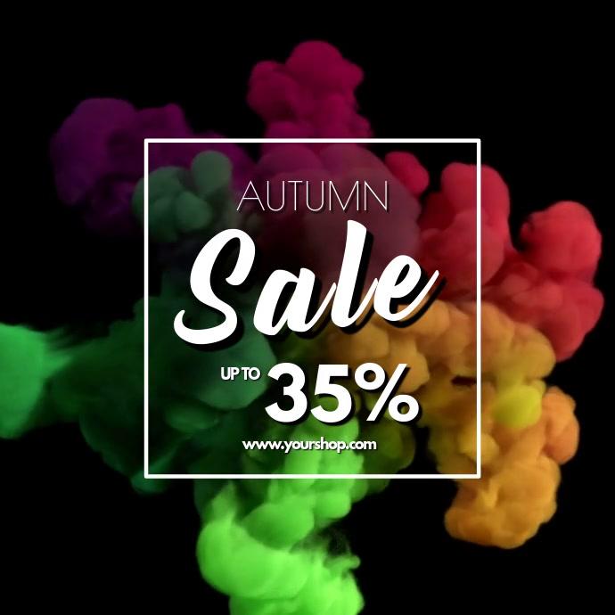 Autumn Sale video explosion advert promo store retail shop