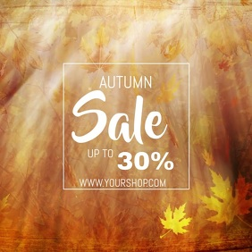 Autumn sale video flyer template