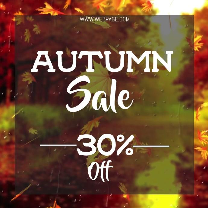 Autumn sale video flyer template
