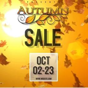 autumn SALE VIDEO SOCIAL MEDIA