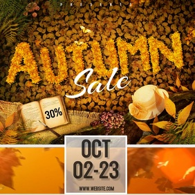 autumn SALE VIDEO SOCIAL MEDIA