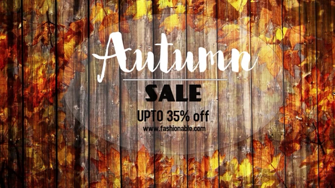 Autumn sale video template Ekran reklamowy (16:9)