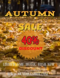 Autumn Sale Video Template Folheto (US Letter)