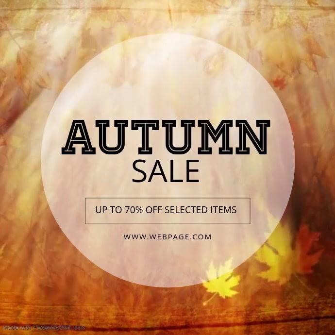 Autumn sale video template instagram