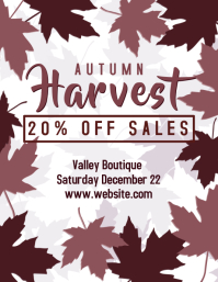 Autumn Sales Flyer