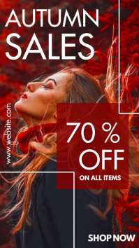 autumn sales instagram story advertisement template