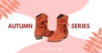 Autumn shoe series - Product display ad Facebook Shared Image template