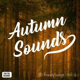 Autumn Sounds Album Cover Art mixtape template