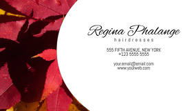 autumn stile business card template