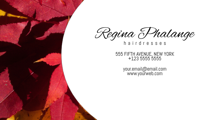 autumn stile business card template Visitekaartje