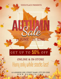 AUTUMN STORE SALE Event Flyer Template