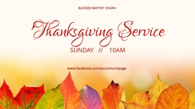 Autumn Thanksgiving Service Ecrã digital (16:9) template