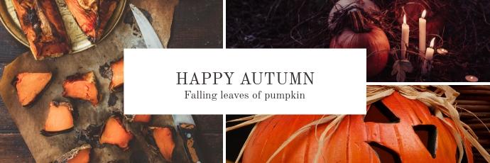 Autumn Twitter Header template