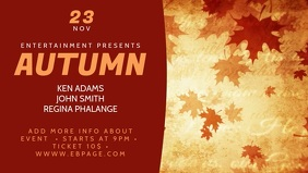 Autumn Video Facebook Cover Template