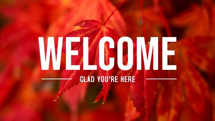 Autumn Welcome Poster Presentatie (16:9) template