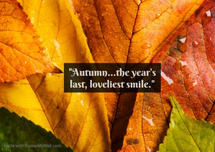 Autumn year ending poster template