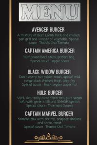 Avenger Special Menu