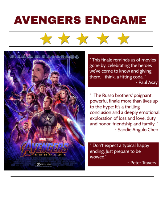 Avengers Endgame Movie Review Template