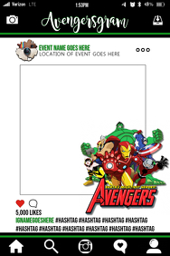 Avengers Party Prop Frame