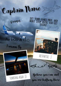 Aviation lover A4 template