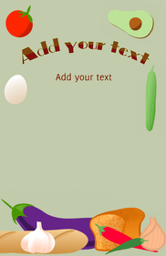 avocado bread egg aubergine tomato tabloid template
