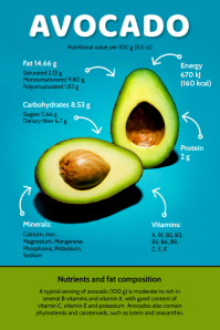 Avocado Facts Infographic Template