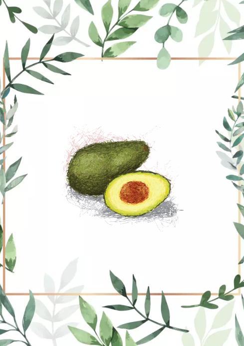 Avocado green design A2 template