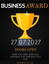 AWARD AWARDS NIGHT AD Flyer Template Pamflet (Letter AS)