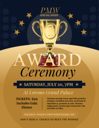 Award Ceremony Flyer template