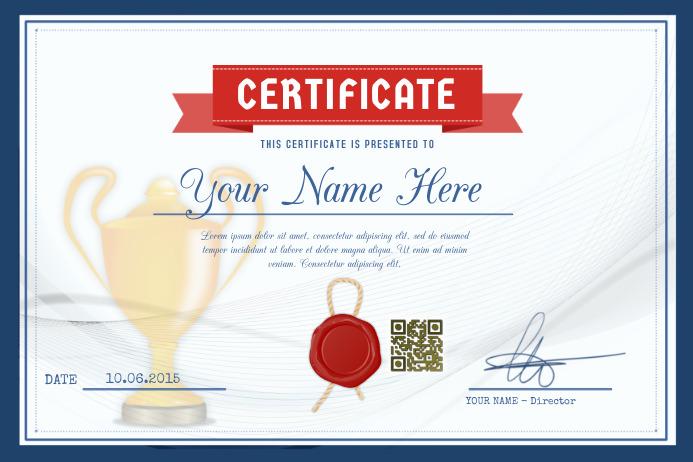 sample sports certificates