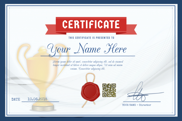 award certificate template for schools and sport clubs postermywall