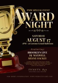 Award Night Flyer A4 template