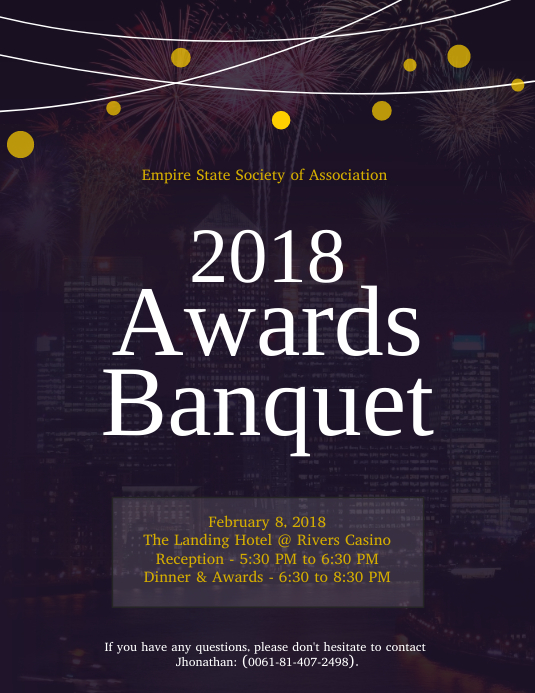 Awards Banquet Event Invitation Flyer Template Postermywall