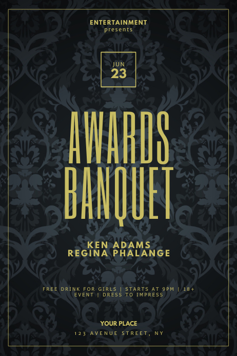 Awards Banquet Flyer Design Template