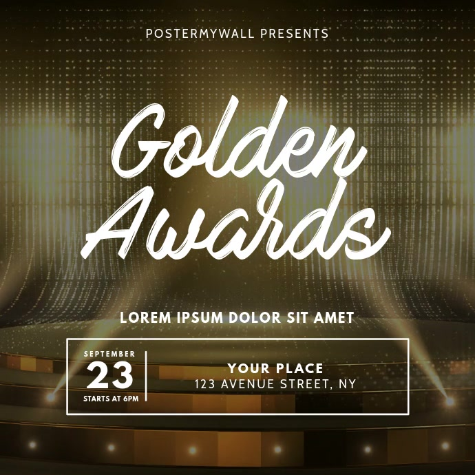 Awards Banquet Video Ad Template