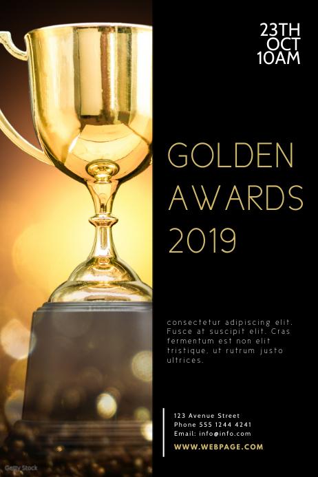 Awards Ceremony Flyer Design Template