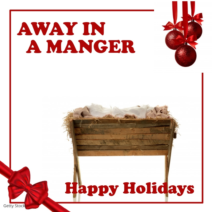 Away in a Manger Template | PosterMyWall