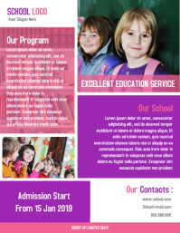 Awesome school brochure template and design