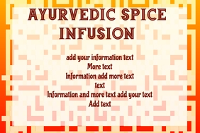 Ayurvedic spice Infusionherbal tea or other b