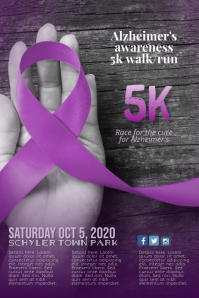 Azheimer's Disease 5k Run Walk Flyer Template