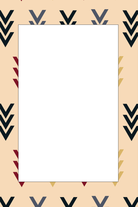 Aztec Party Prop Frame Template | PosterMyWall
