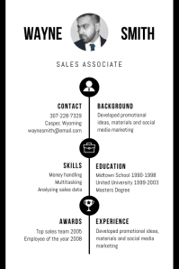 B&W Professional Marketing CV Resume