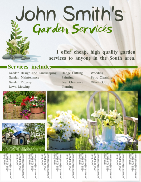 Lawn Care Services Template with Tabs