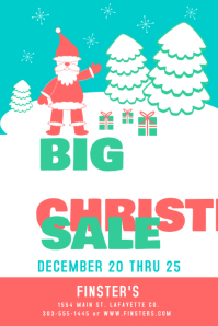 Vintage Christmas Sale Poster template