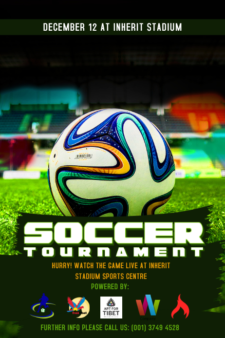 Soccer Tournament Poster Template Postermywall