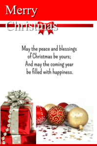 Christmas Cards Design Templates PosterMyWall - Christmas greeting card template