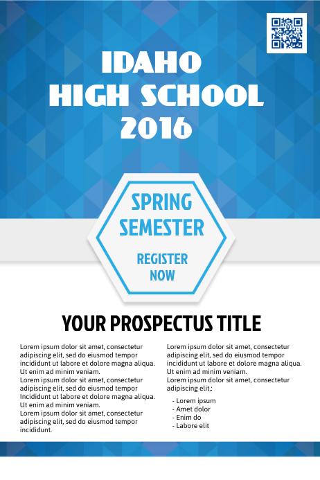 School prospectus Template   PosterMyWall